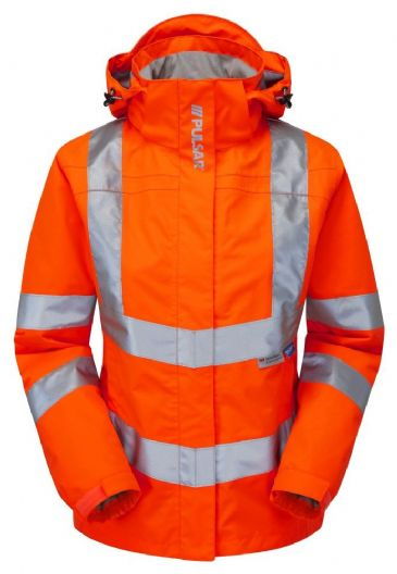 Pulsar PR705 Ladies Rail Spec Storm Coat (High Vi Orange)